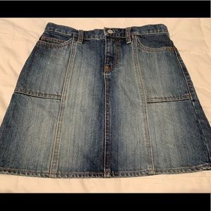 Gap denim jean skirt size 0